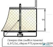 Комплект Н6 – Крепление на металлоконструкцию через сэндвич-панель
