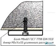 Комплект Н7 – Крепление на бетон, полнотелый кирпич