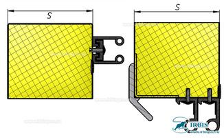 Система уплотнителей откатной холодильной двери
