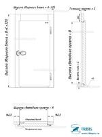 Габаритные размеры дверного блока пороговое исполнение