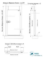 Габаритные размеры дверного блока беспороговое исполнение