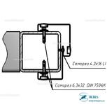 Комплект Т2 – Крепление на металлоконструкцию