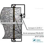 Комплект Т3 – Крепление на бетон полнотелый кирпич