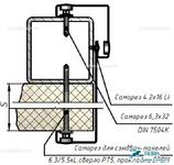 Комплект Т4 – Крепление на металлоконструкцию через сэндвич-панель