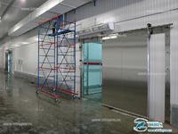 Откатная дверь специального назначения холодильной камеры