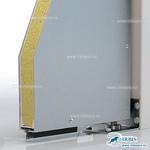 Легкое многослойное полотно RAL9003 на алюминиевом профиле с резиновым уплотнителем