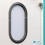 Окно овальное 380х500 мм, резиновое обрамление