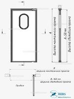 Одностворчатая маятниковая дверь