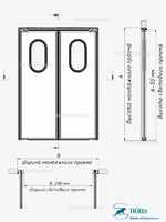 Двухстворчатая маятниковая дверь