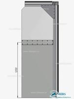 №3.Комбинированное полотно из прозрачной ПВХ пленки сверху и непрозрачной серой ПВХ пленки снизу